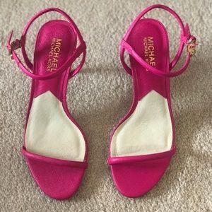 Michael Kors hot pink heels